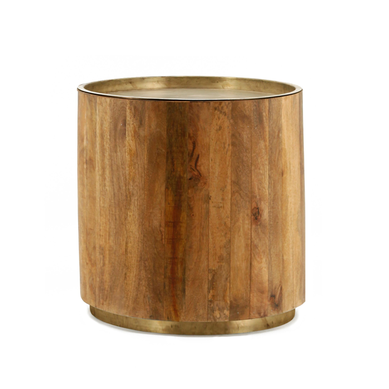 Stolík Tub tmavý ∅ 45 cm
