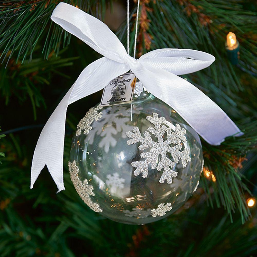 Vianočná ozdoba Snowflake Clear Ornament Dia 8cm