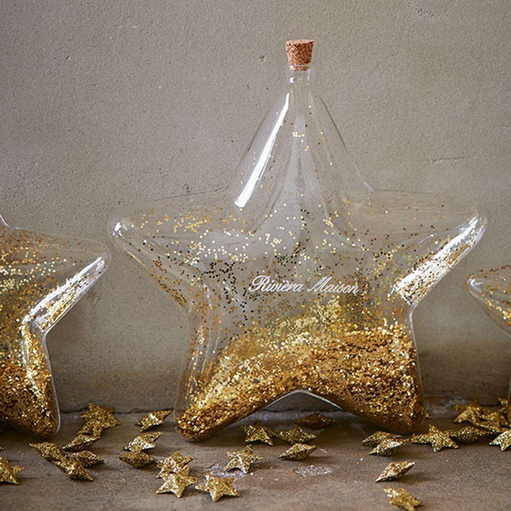 Vianočné dekorácie Big Star Decoration Bottle gold L