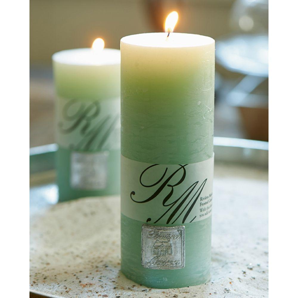 Sviečka Frosted Candle light olive 18x7