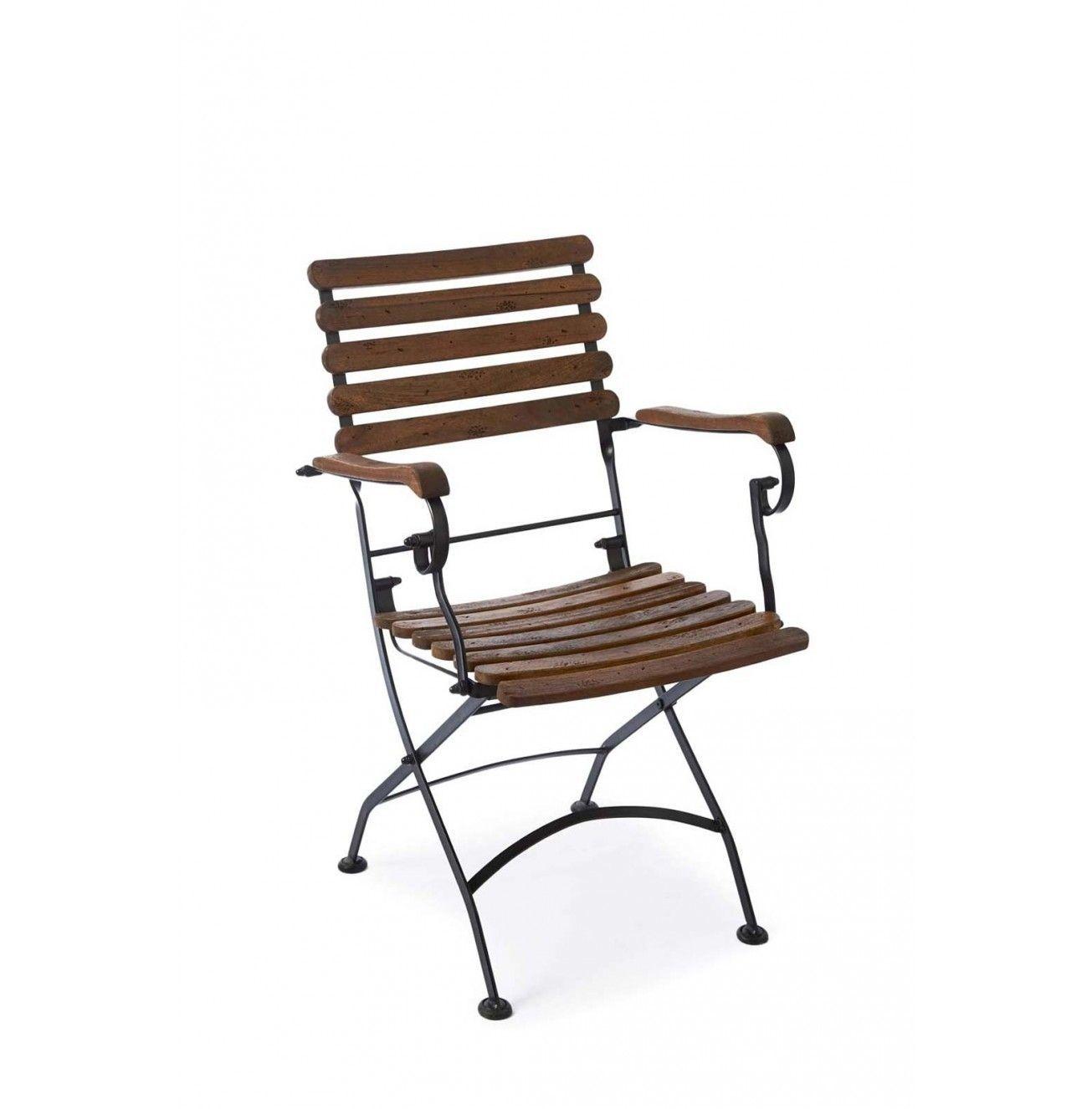 Venkovní židle Saint Maxime Bistro s područkami