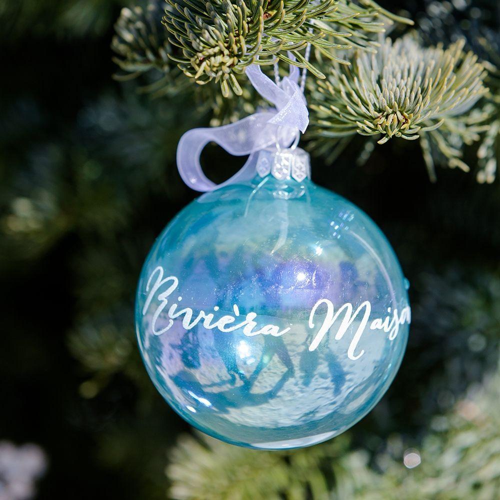 Vianočná ozdoba RM Ornament Pearly blue Dia 8