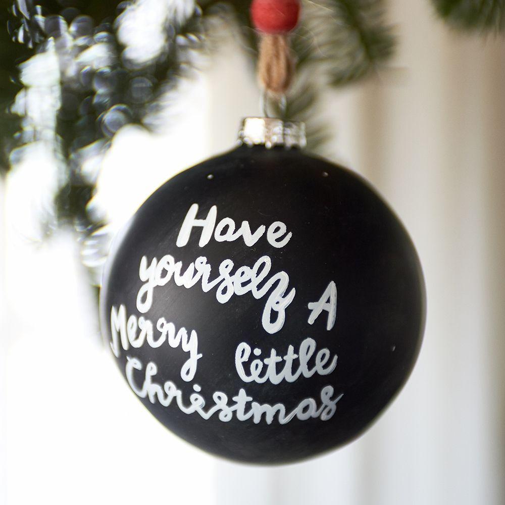 Vianočná ozdoba Chalk Ornament Little Christm Dia 8