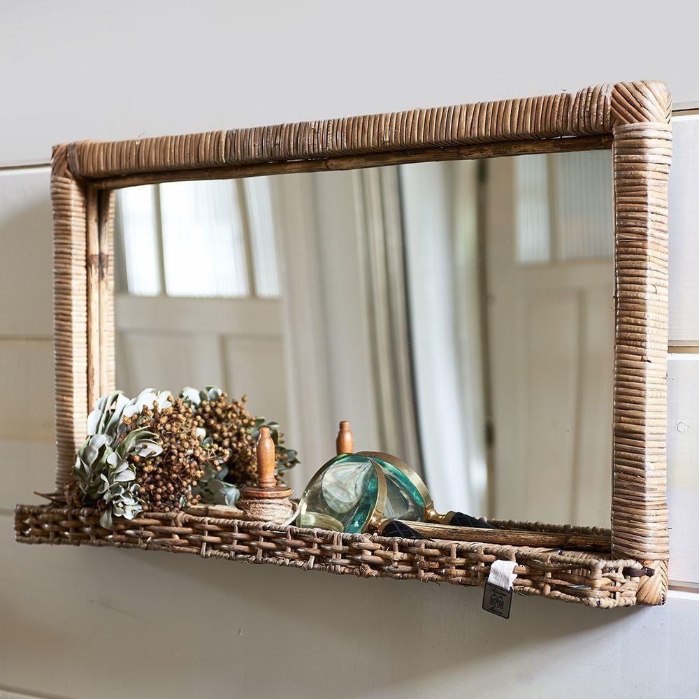 Zrkadlo Rustic Rattan Hall Mirror L