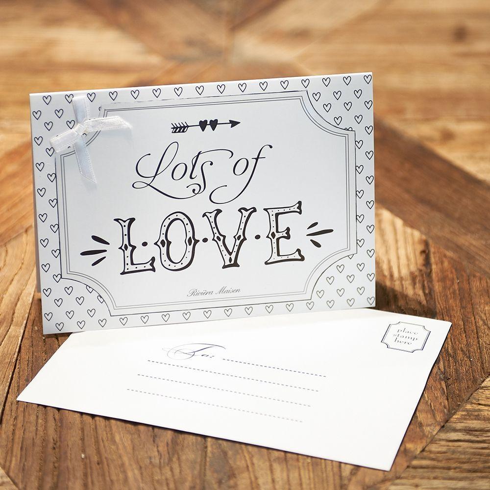 Prianie  Postcard Lots of Love +envelope