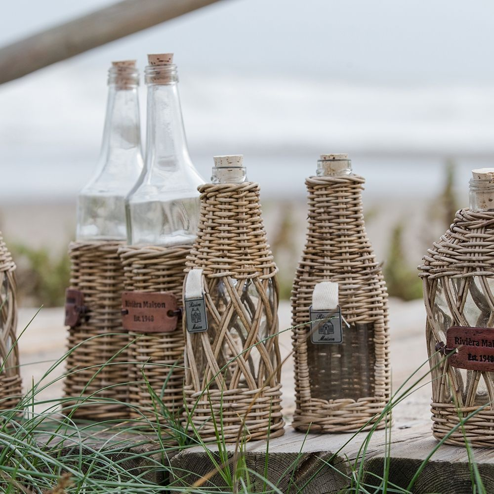 Flaška Rustic Rattan Window Bottle