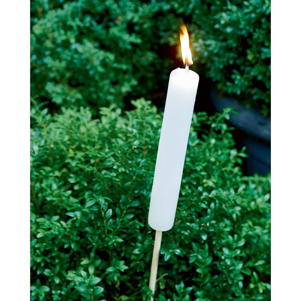 Svietnik Garden Torch white S
