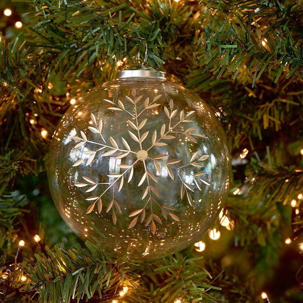 Skleněná ozdoba Classic Snowflake Ornament Dia 12cm