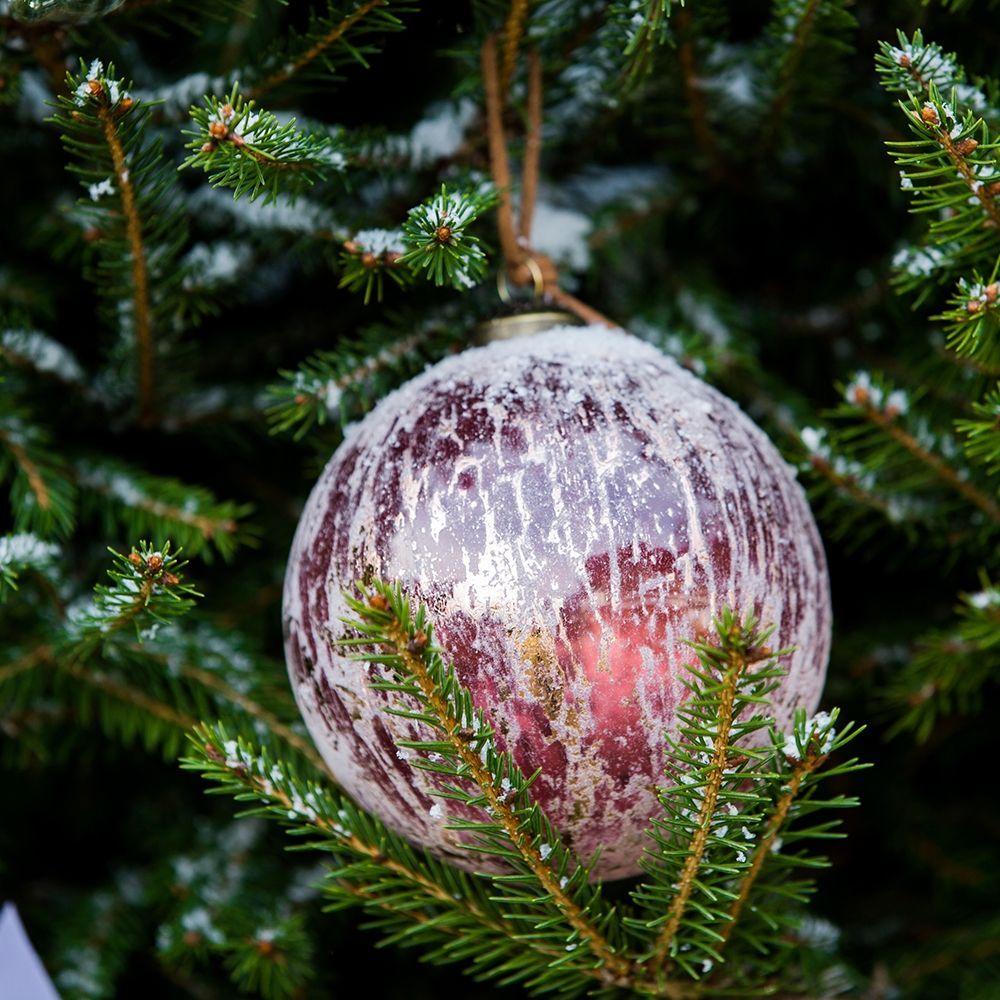 Vianočná ozdoba Provence Vintage red Orn Dia 10