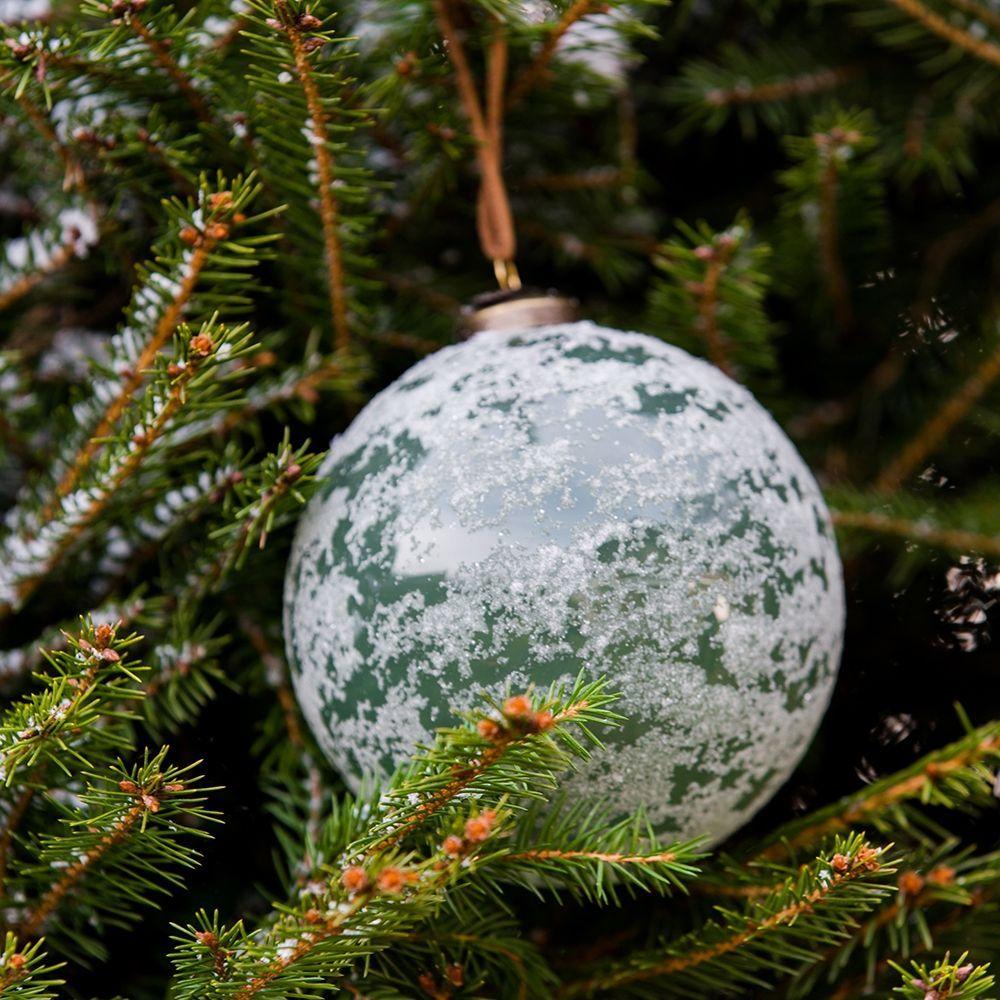 Vianočná ozdoba  Provence Vintage green Snow Dia 10