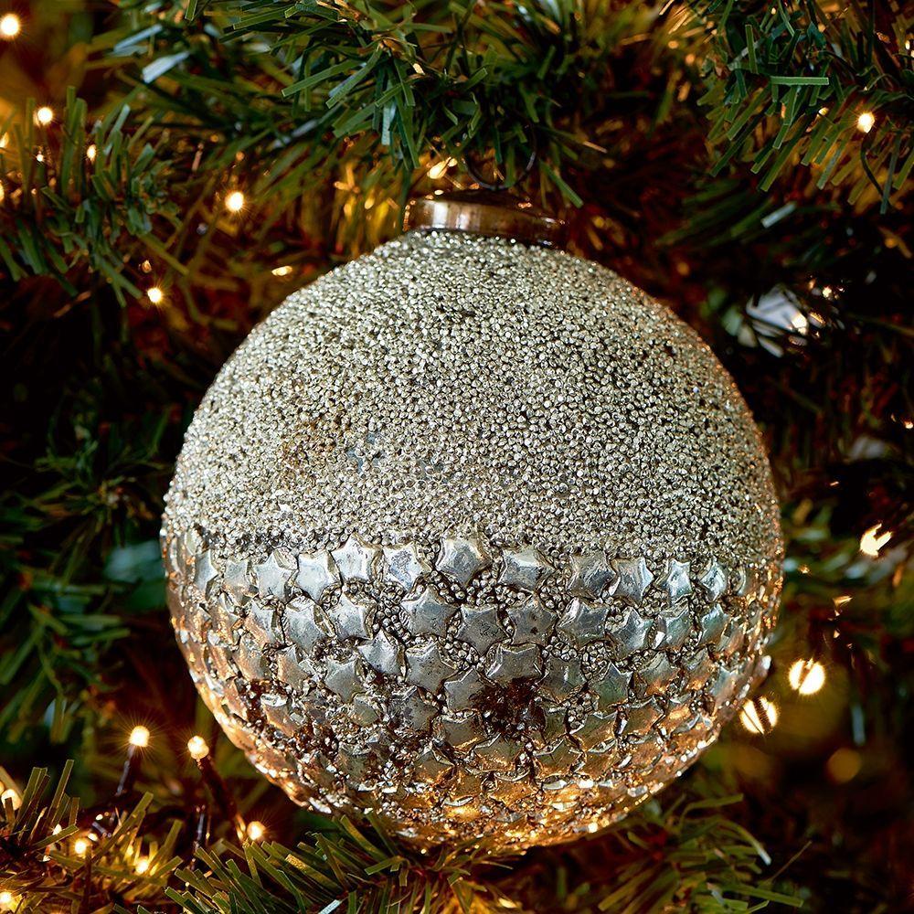 Vianočná ozdoba Sparkling Stars Orn Dia 12 silver