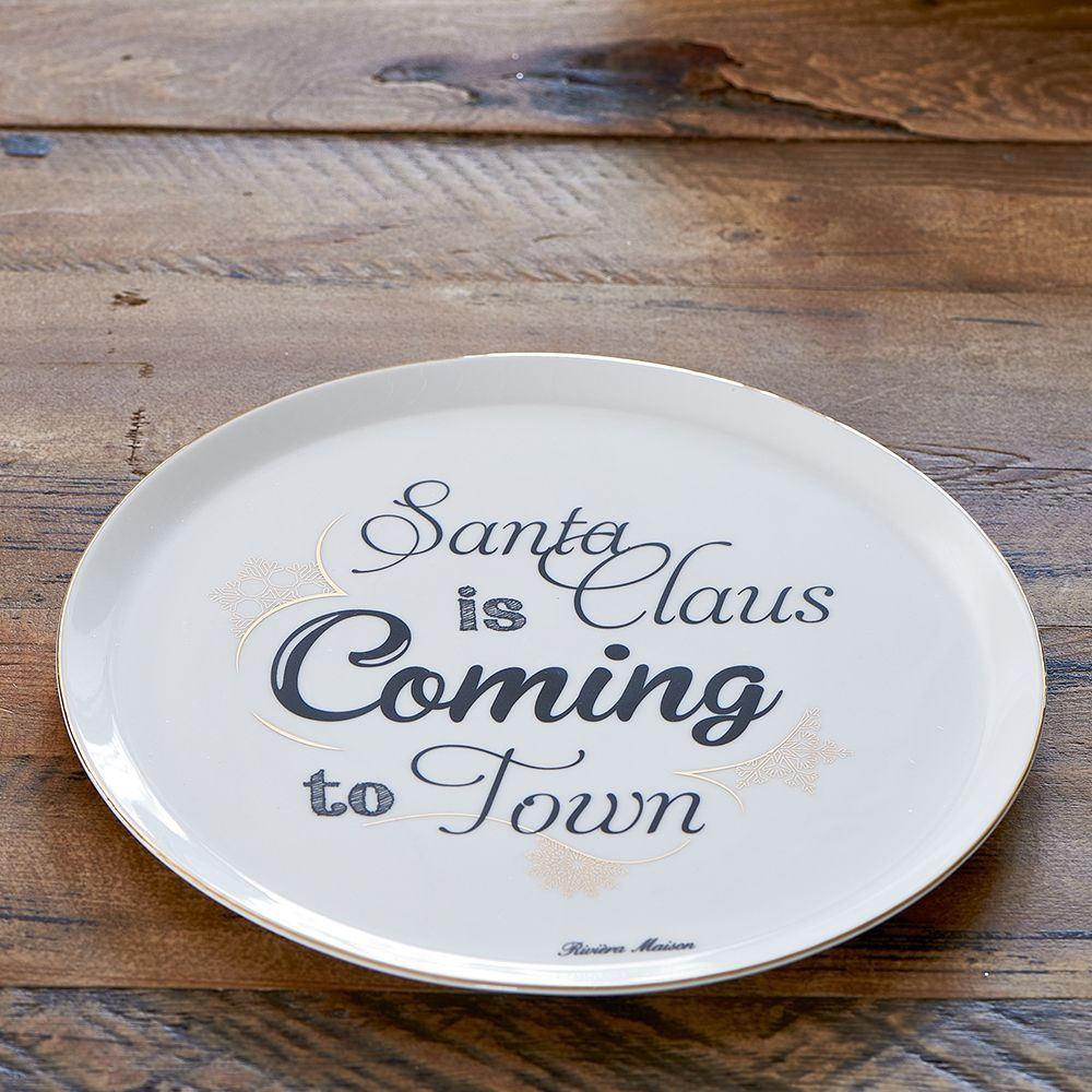 Tanier Santa Claus Is Coming To Town Plate