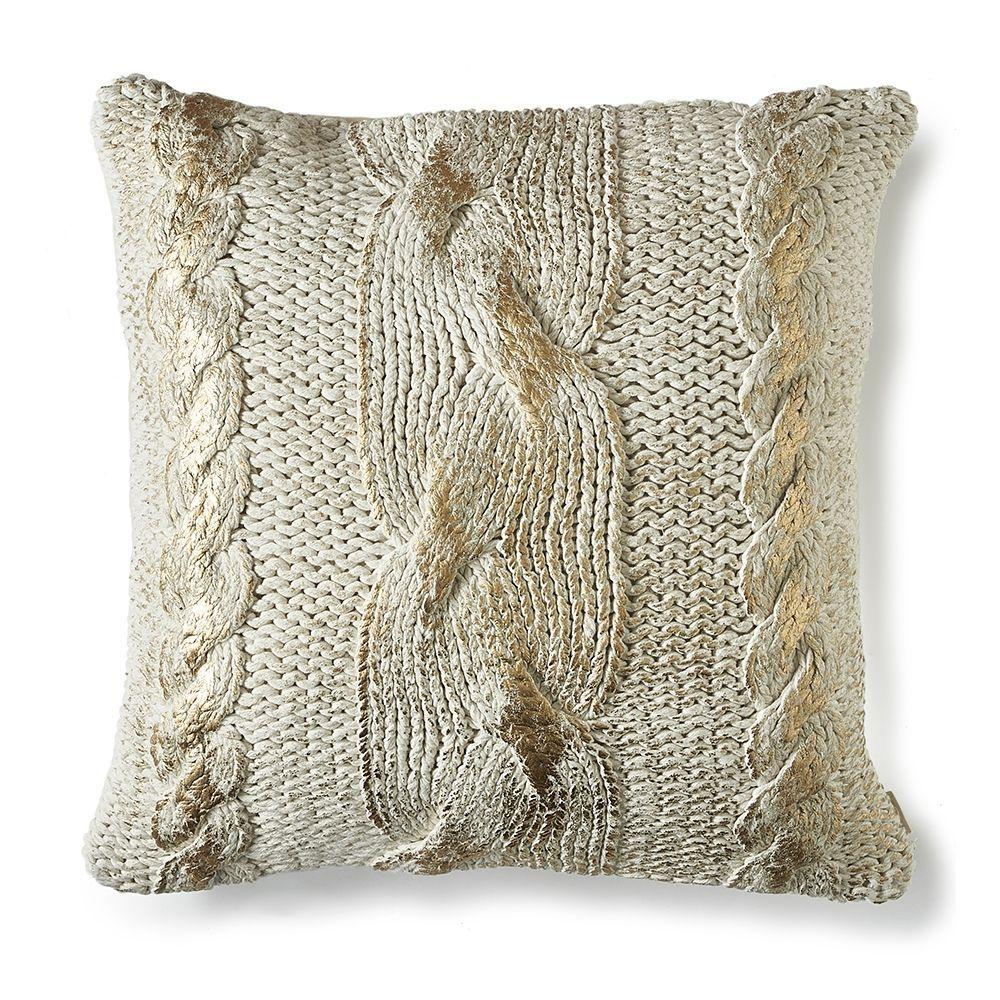 Návlek na vankúš The Golden Knit Pillow Cover 50x50