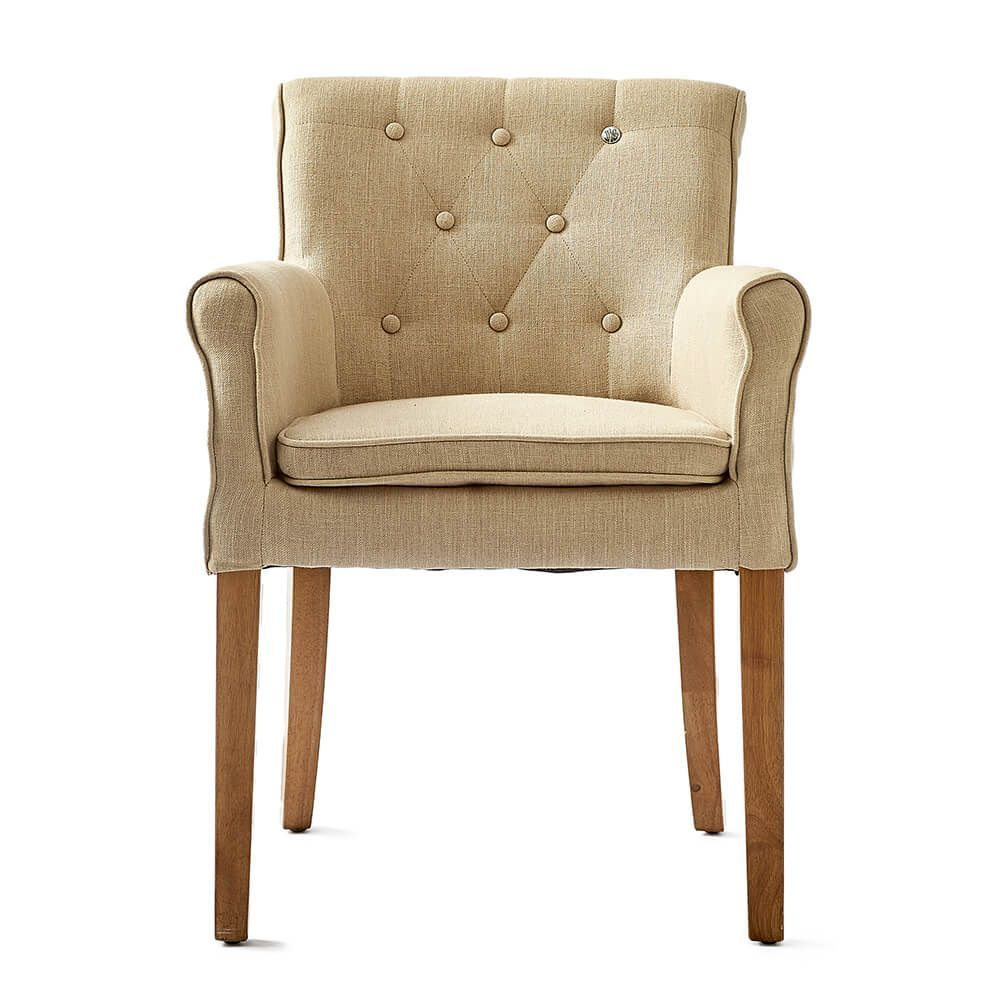 La Scala Armchair, Flax, Linen