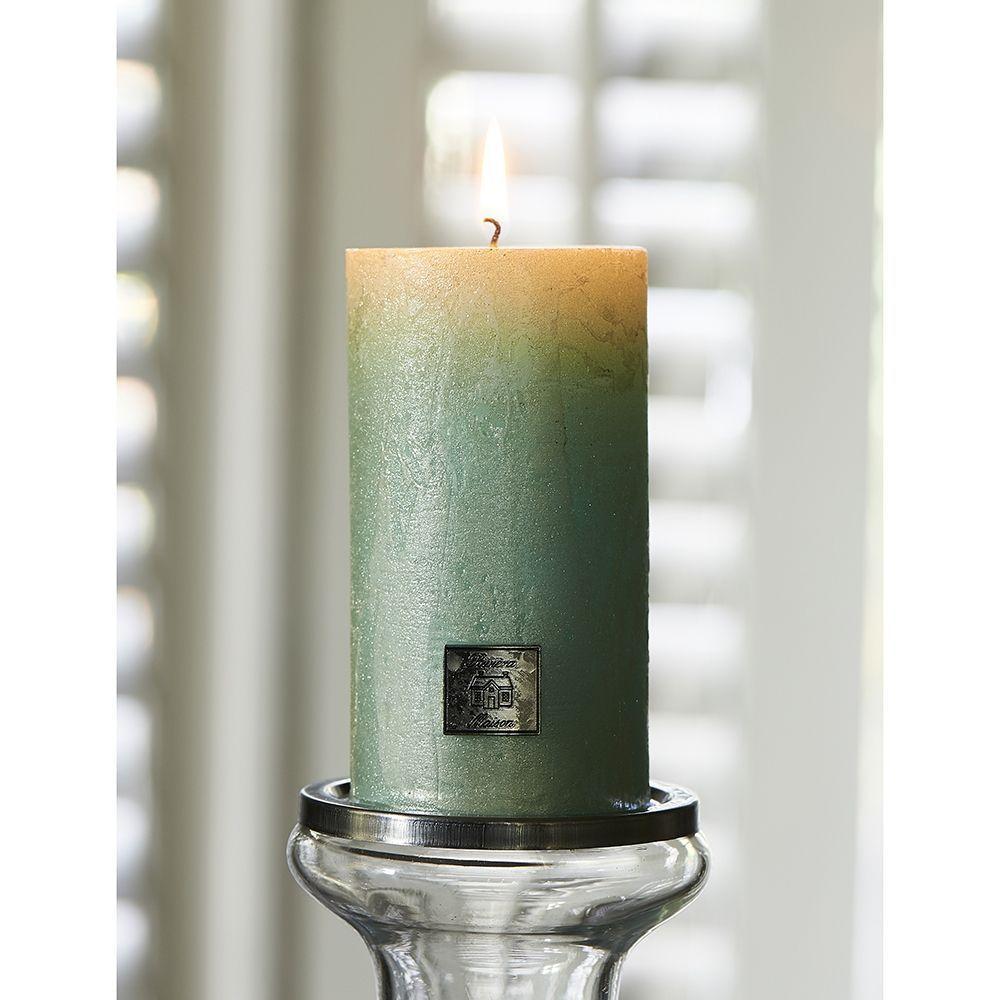 Sviečka Rustic Candle pearl mint 7x13