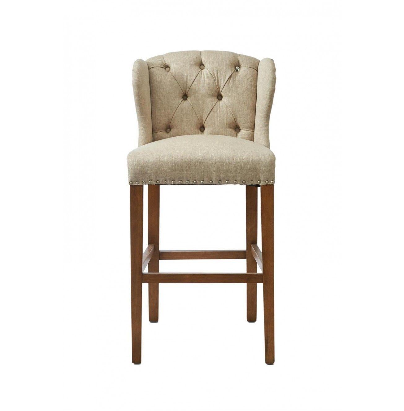 Nízka barová stolička Keith II, Linen Flax