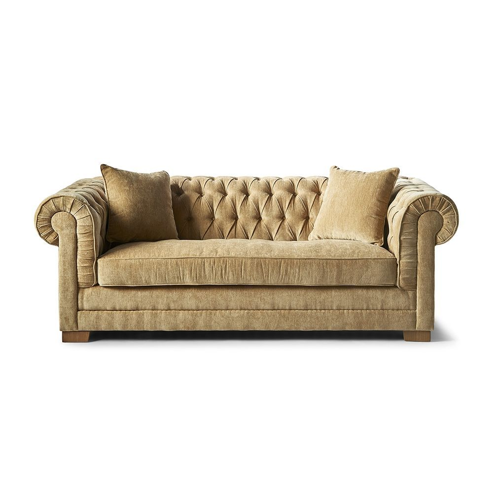 Sofa Crescent Avenue 3 seater, samet, Olive