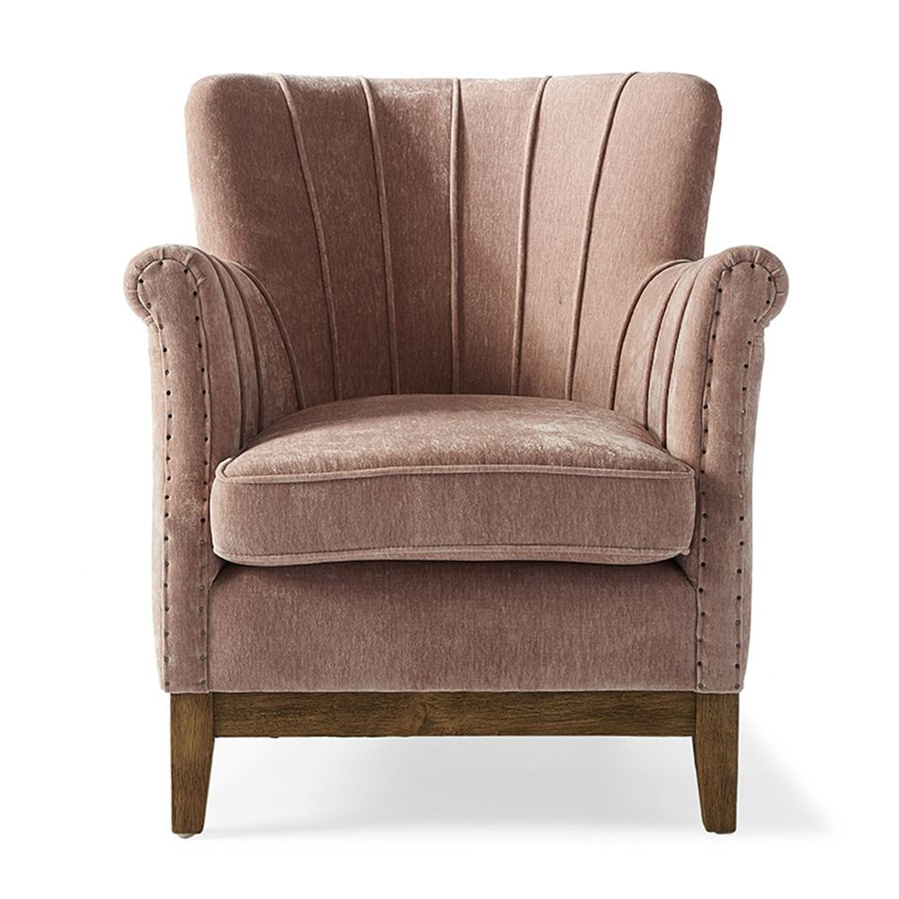Kreslo East Village Armchair, Velvet, Pink
