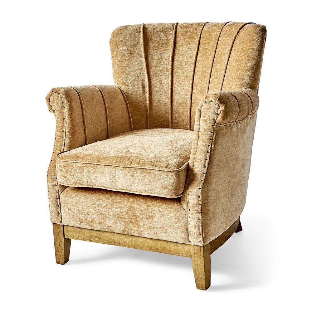 Kreslo East Village Armchair, Velvet, Copper