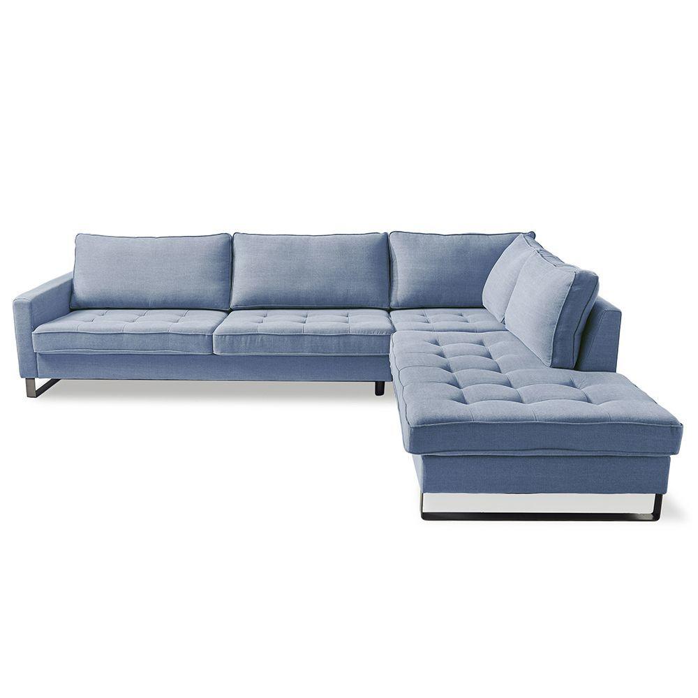Rohová sedačka West Houston Corner Right, Washed Cotton, Ice Blue