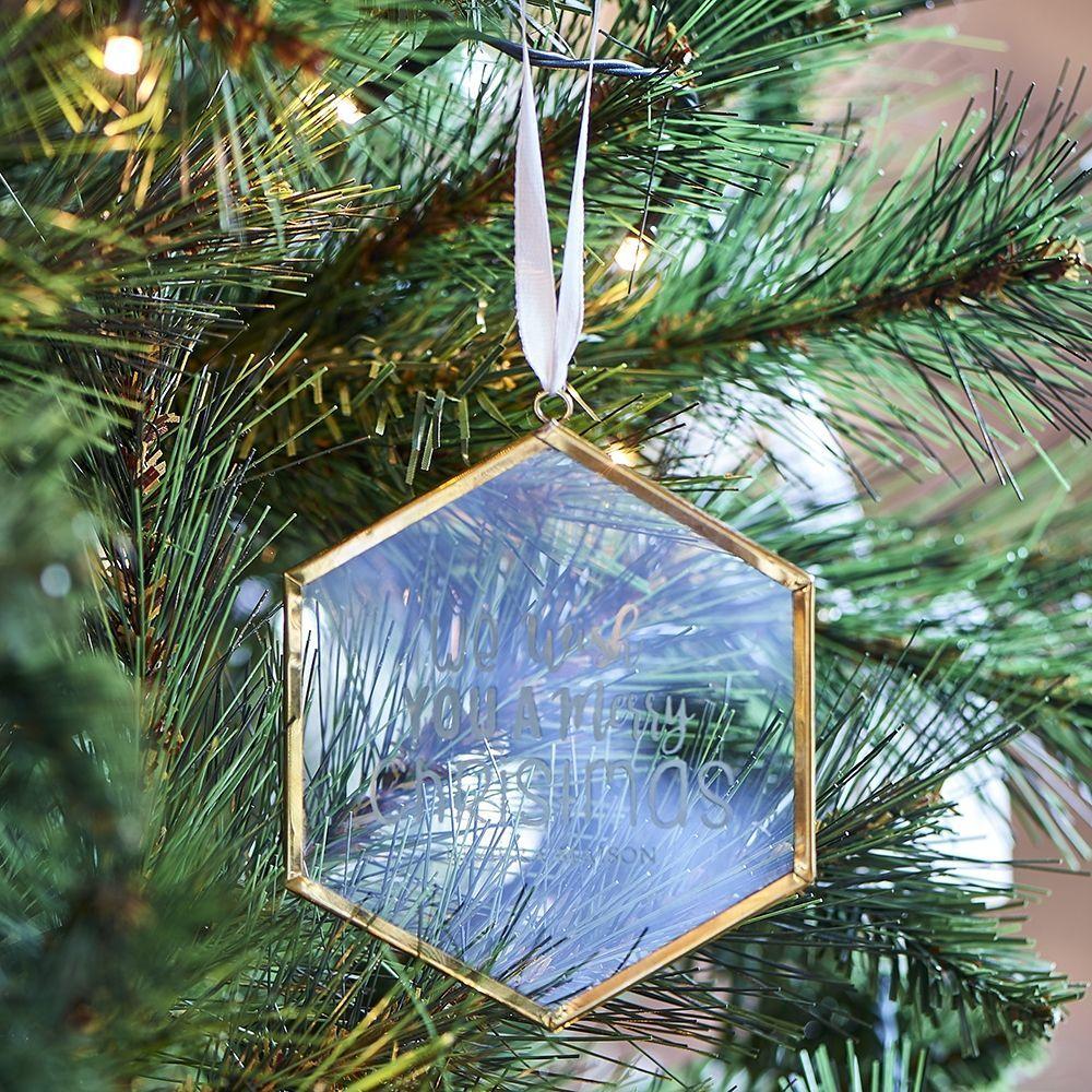 Vianočná ozdoba We Wish You French Glass Hanger