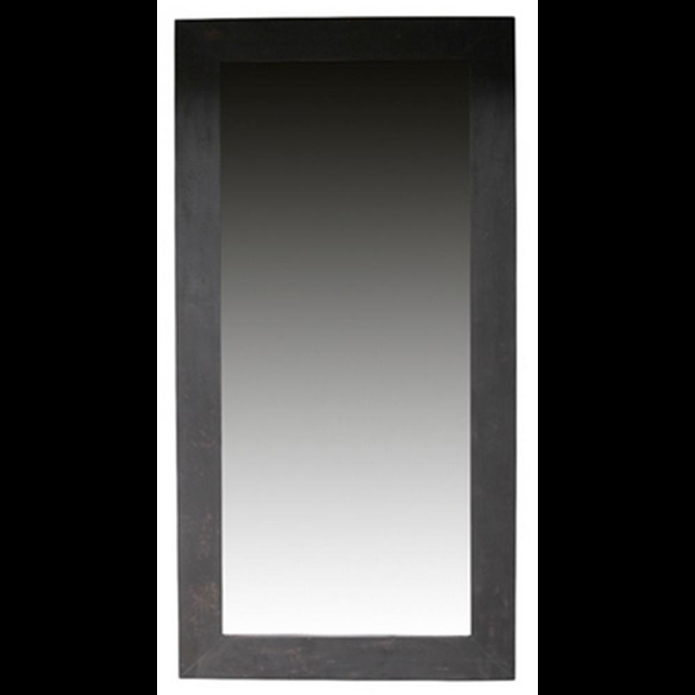 Čierné drevené zrkadlo