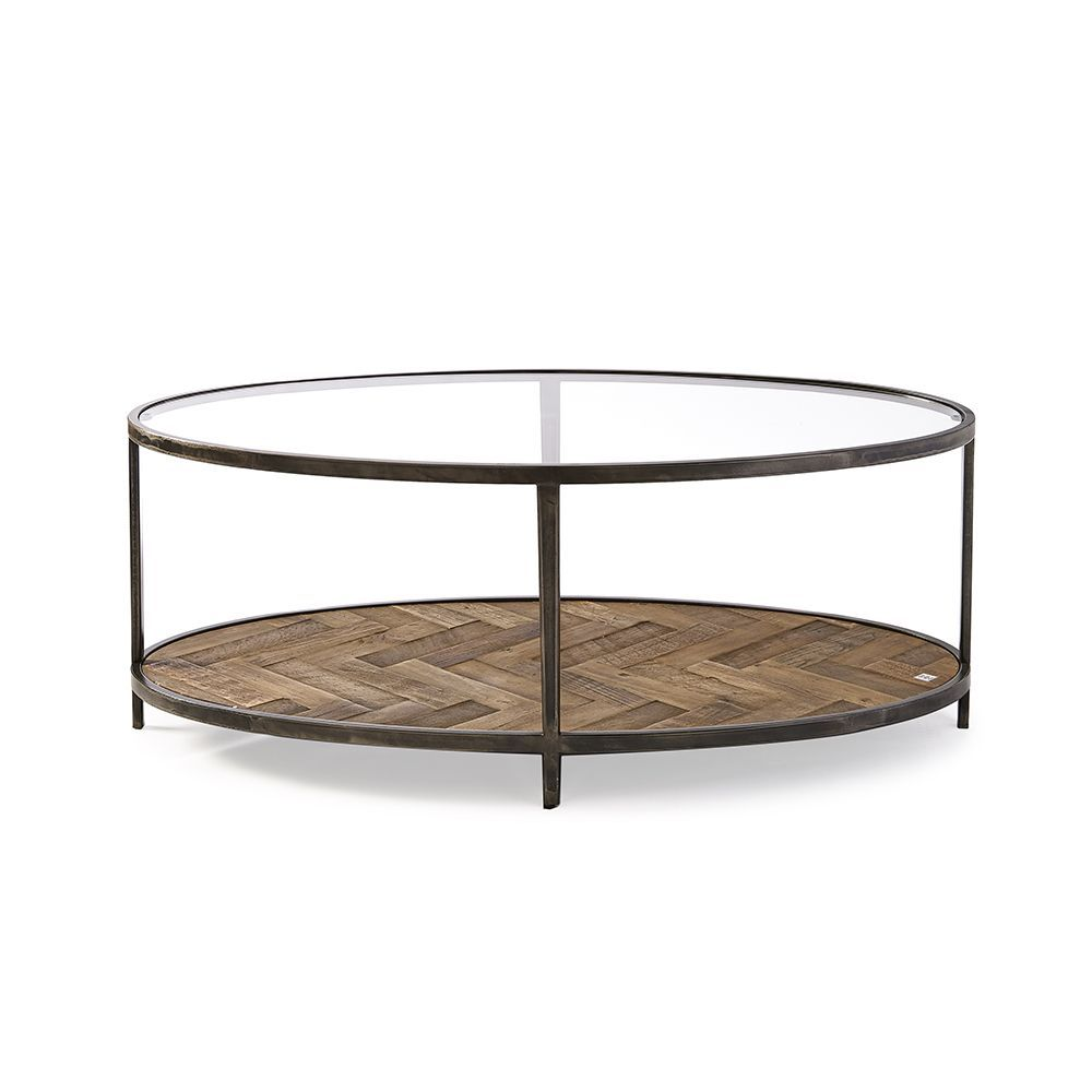 Oval Trident Coffee Table 120 x 60 cm