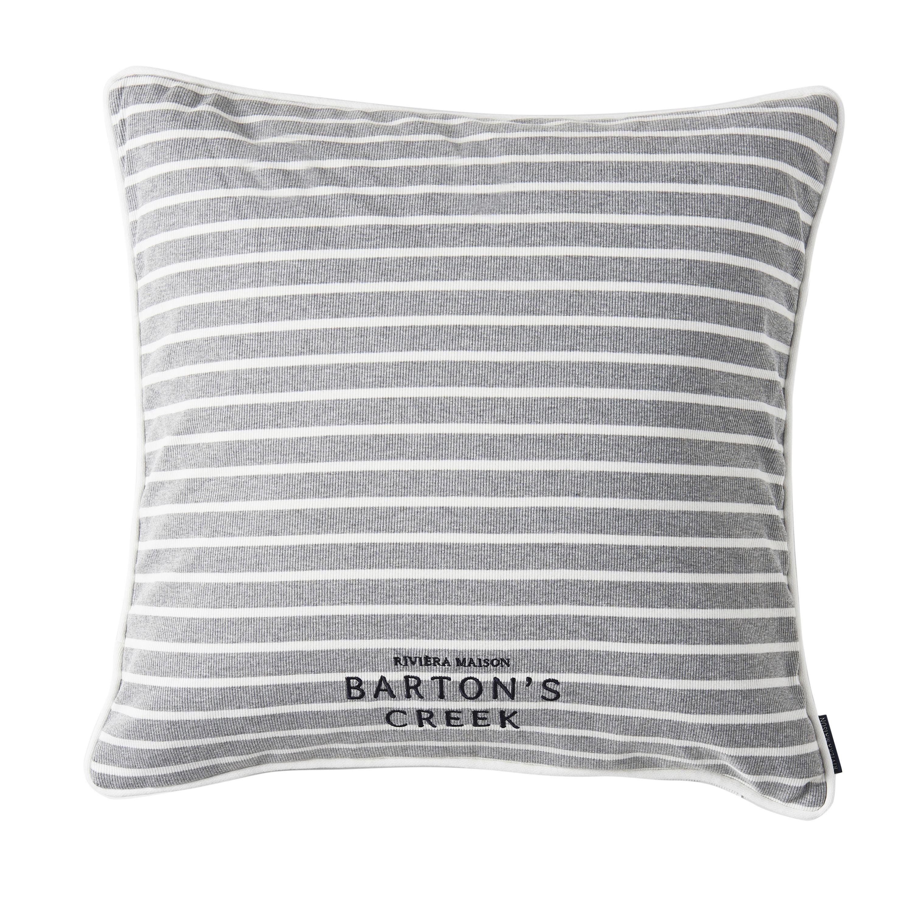 Návlek na vankúš Barton's Creek Stripe, šedá/biela 50 x 50