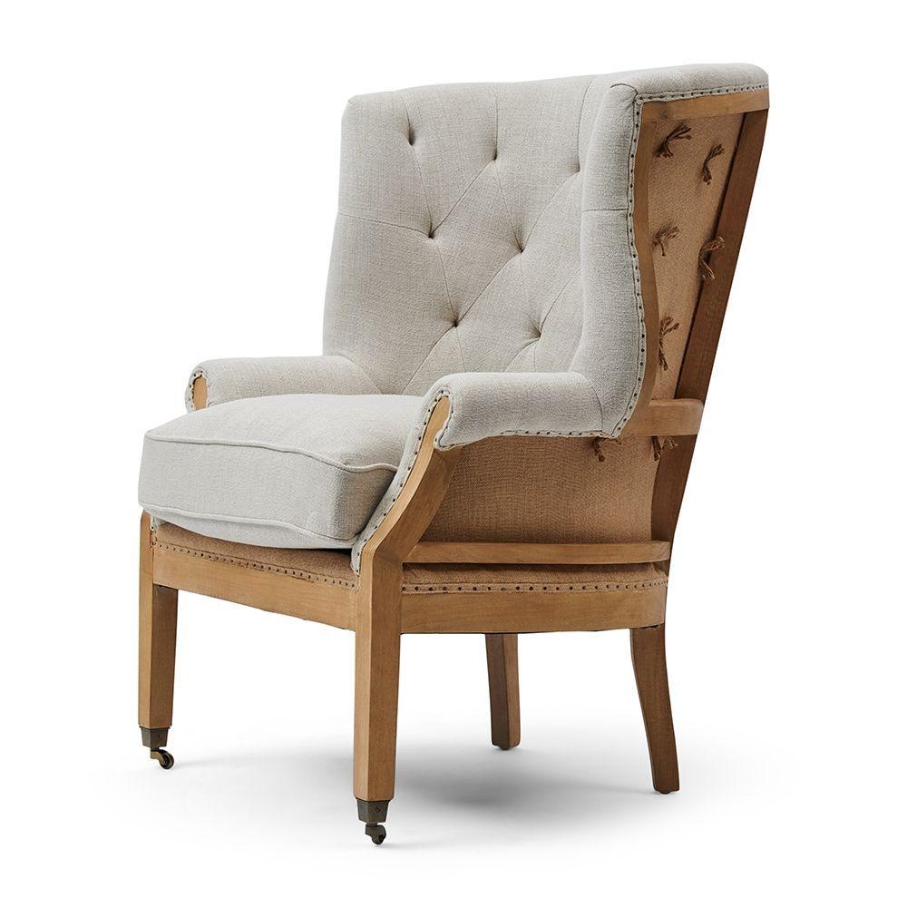 Kreslo Cunningham Wing Chair Linen
