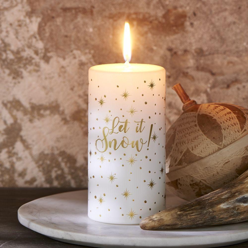 Sviečka  Let It Snow Flake Candle