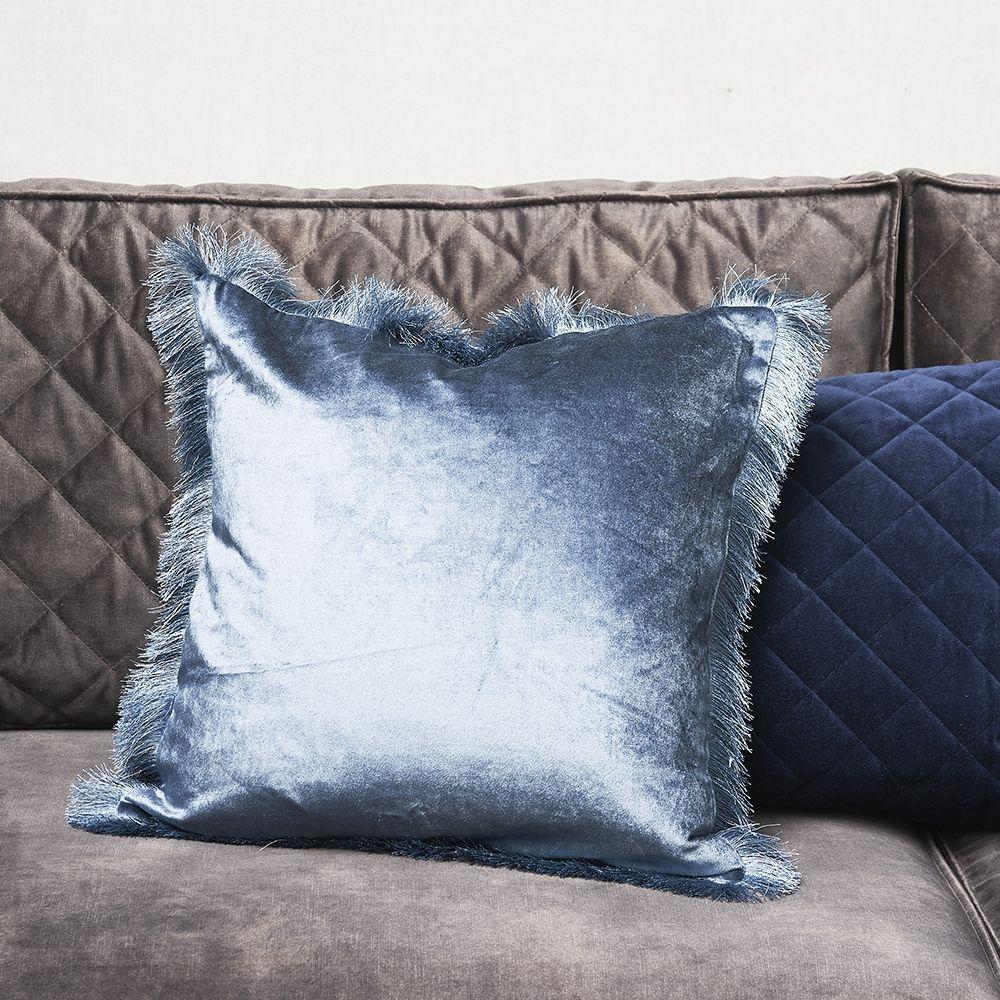 Návlek na vankúš Fabulous Fringe Pillow Cover midnight blue 50 x 50
