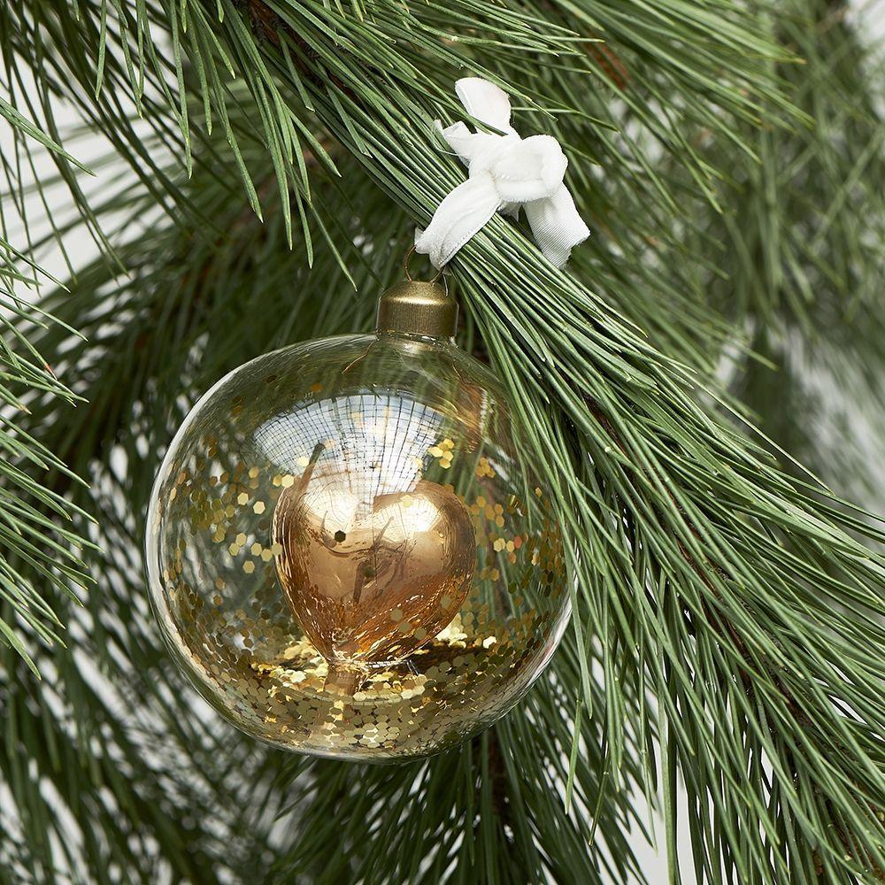 Vianočná ozdoba Pretty Heart Ornament gold