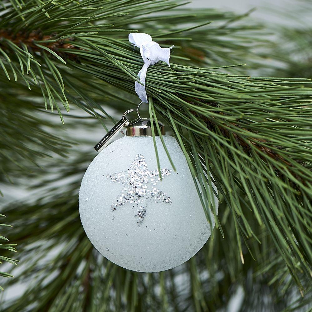 Vianočná ozdoba Happy Star Ornament silver