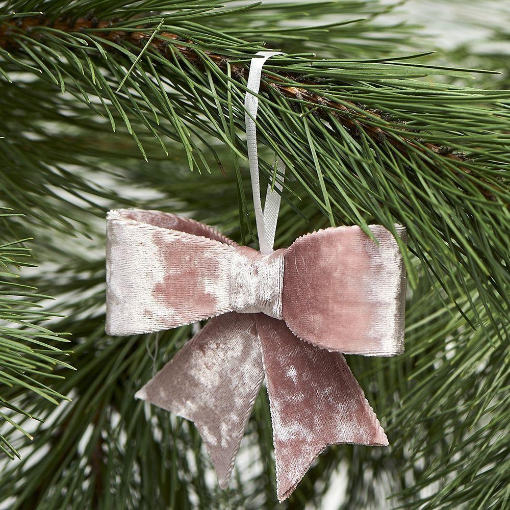 Vianočná ozdoba Jacky Bow pink
