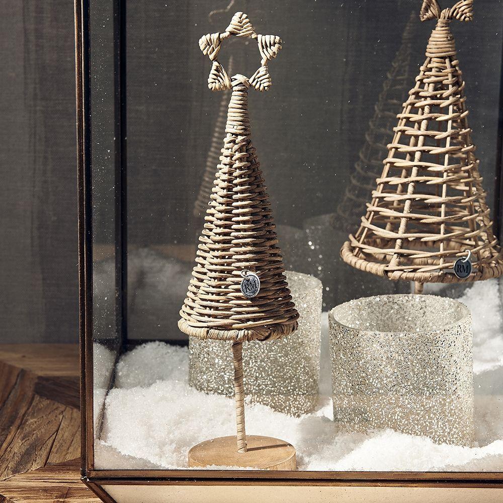 Vianočná dekorácia Rustic Rattan Best Christmas Tree S