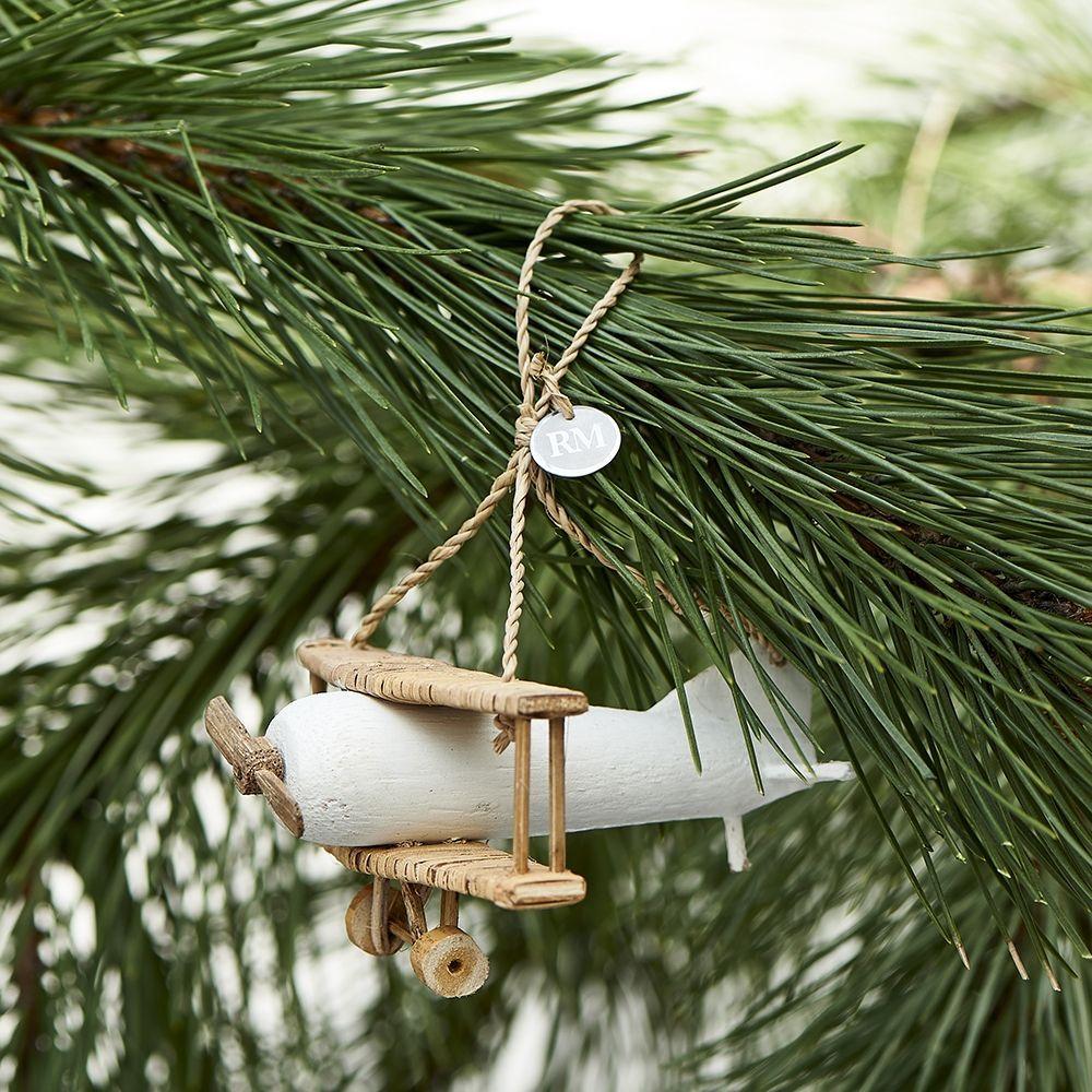 Vianočná ozdoba RR Double Decker Plane Ornament