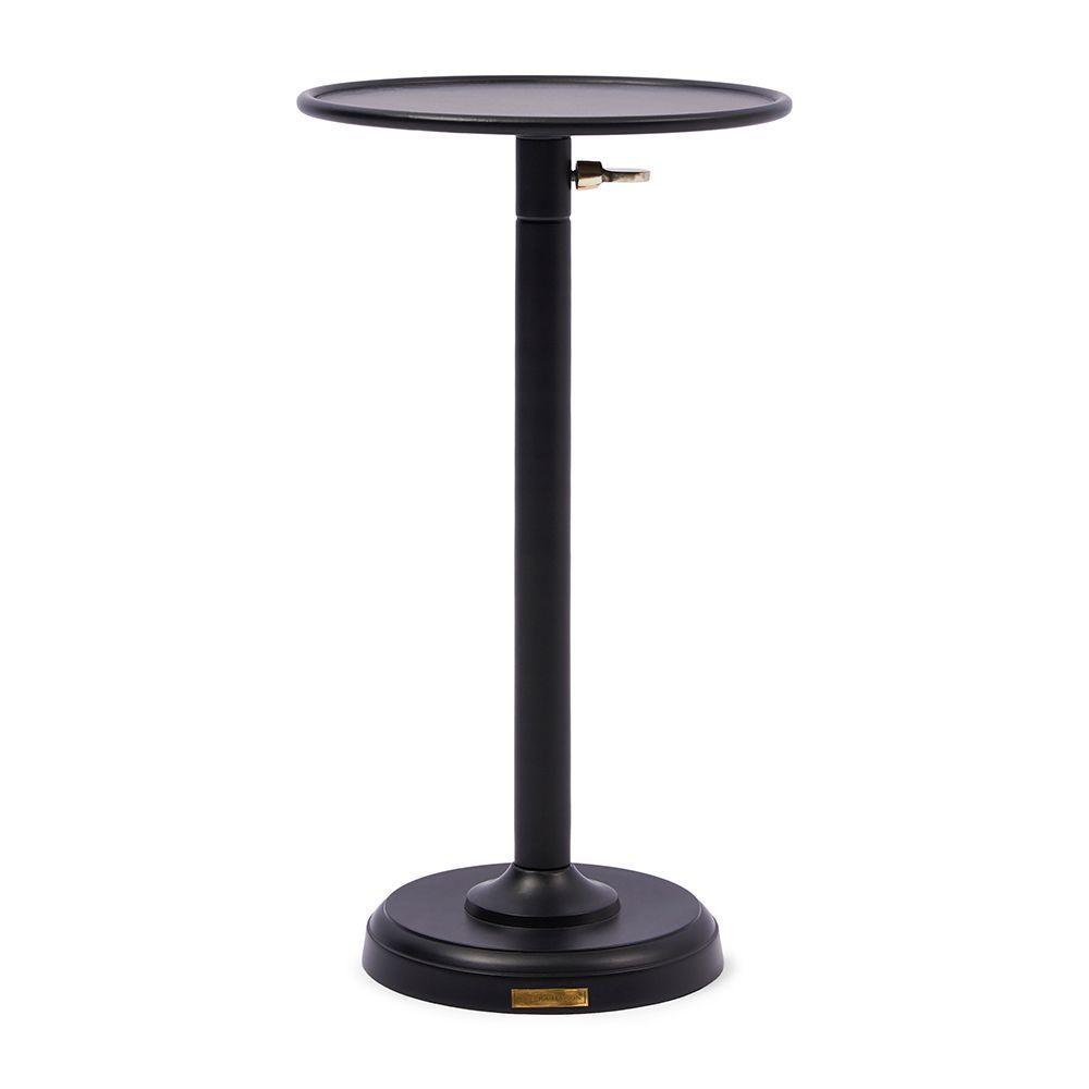 Venice Adjustable Sofa Table, Black M ∅ 29cm