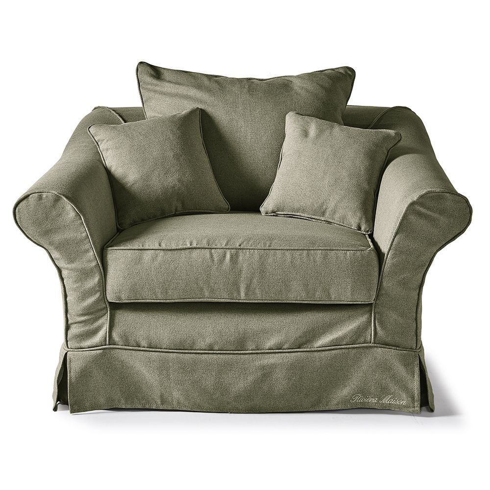 Bond Street Love Seat, Oxford Weave, FrGreen