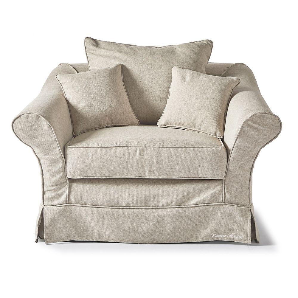 Bond Street Love Seat, Oxford Weave, FlandFl