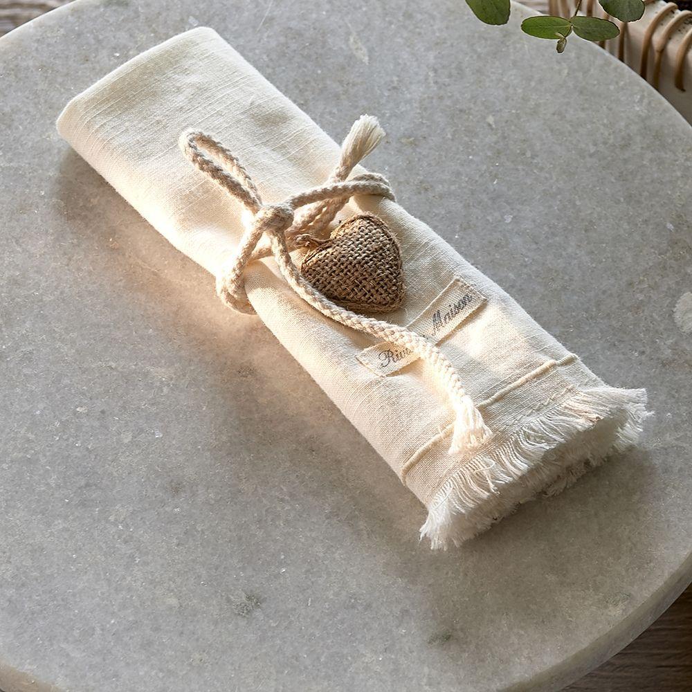Obrúsok Lovely Heart Napkin white