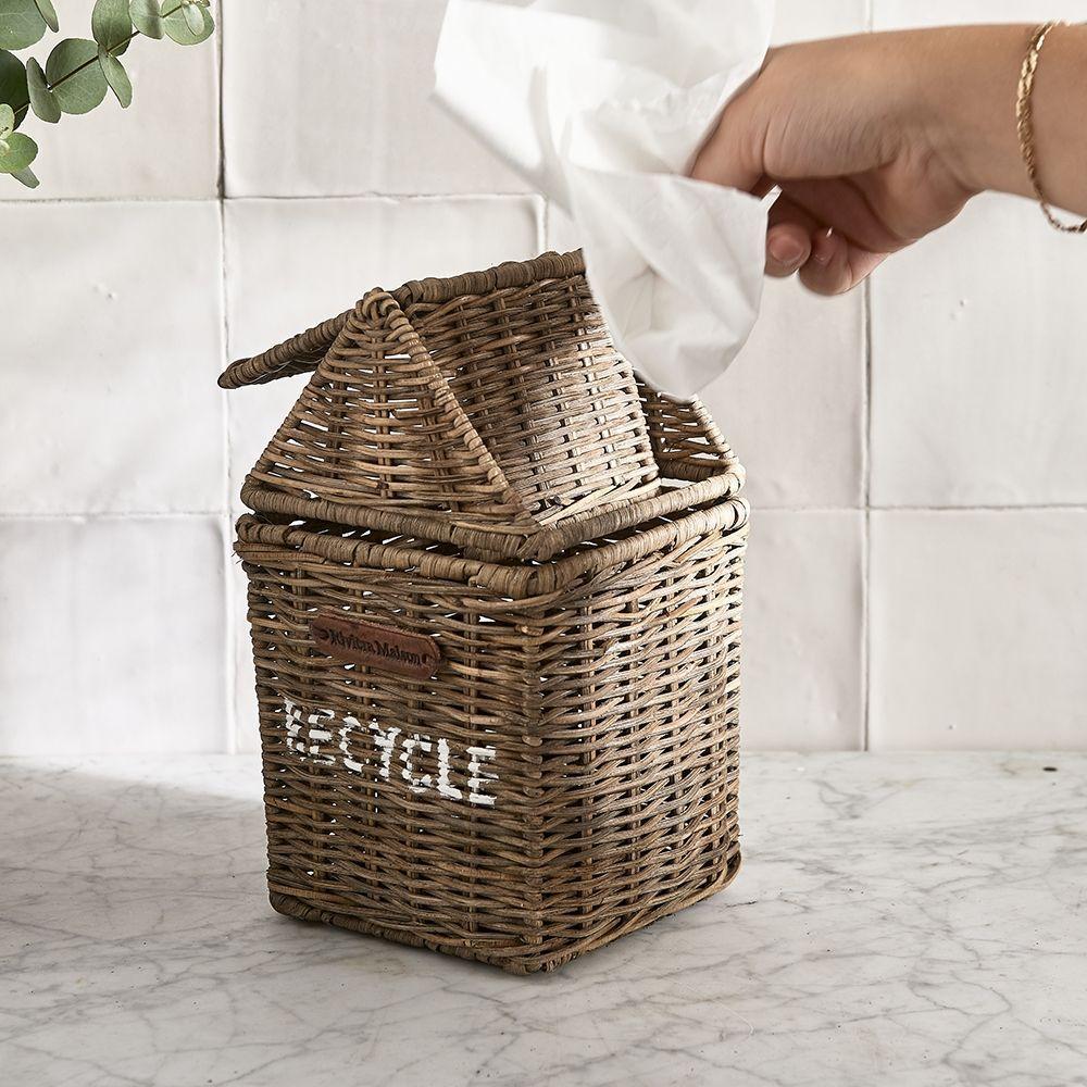 Košik na servítky Rustic Rattan Recycle Mini Bin