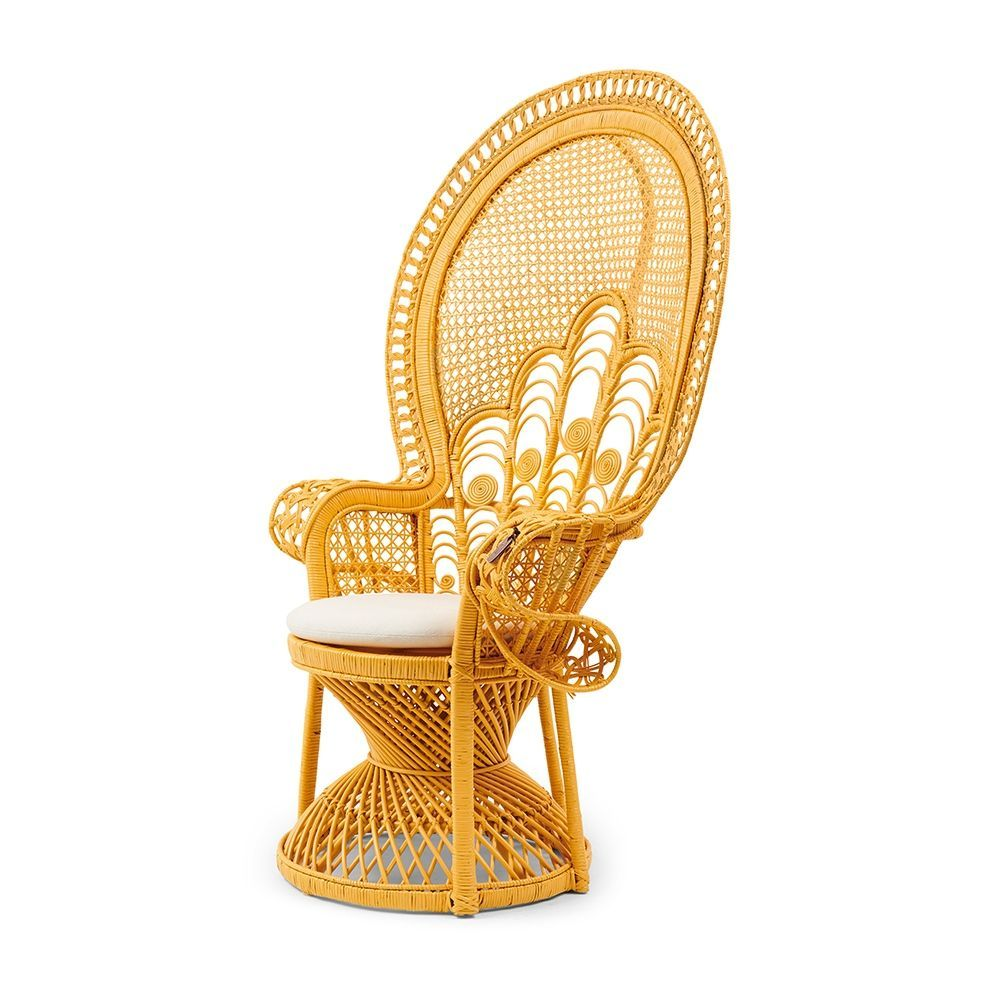 Kreslo Greenport Peacock Chair, Yellow