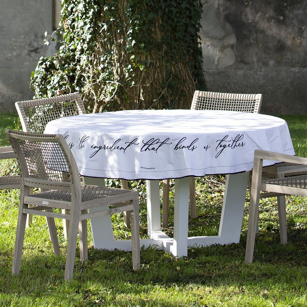 Obrus Together Table Cloth Round white Dia 180