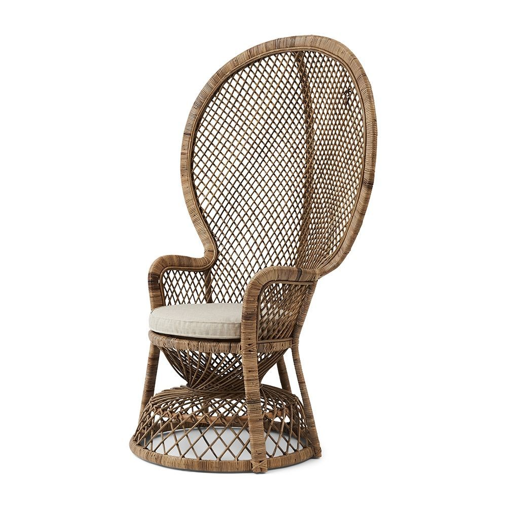 Kreslo Greenport Peacock Chair, Grey