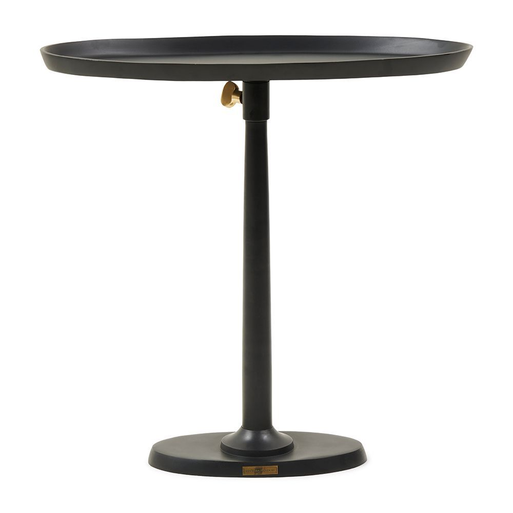 Kimberley Adjustable End Table Black ∅ 55 cm