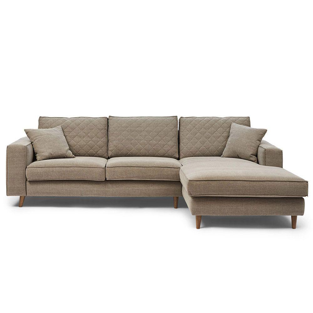 Rohová sedačka Kendall Corner Sofa Right, Washed Cotton, Stone