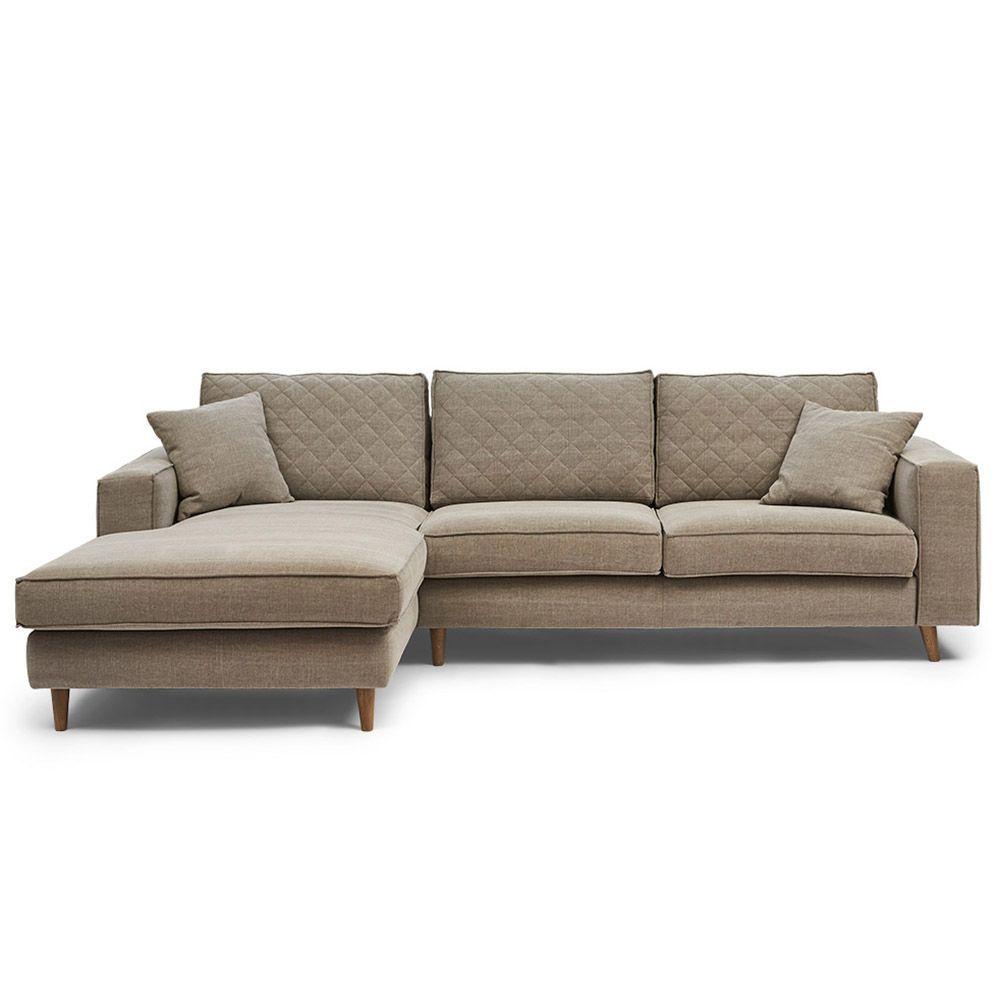Rohová sedačka Kendall Corner Sofa Left, Washed Cotton, Stone