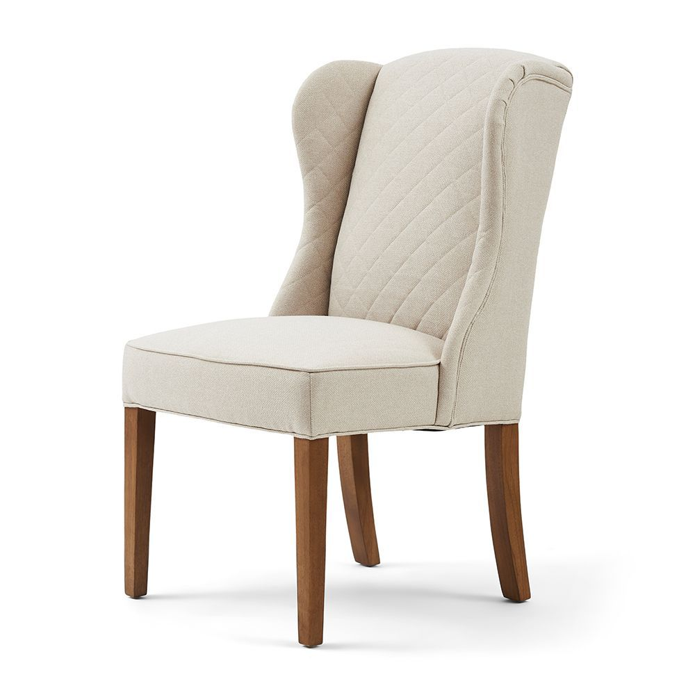 Stolička William Dining Chair, Oxford Weave, Flax