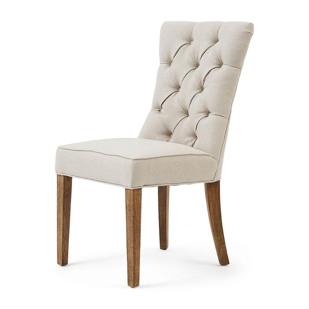 Jedálenská stolička Balmoral, Oxford Weave, Flax