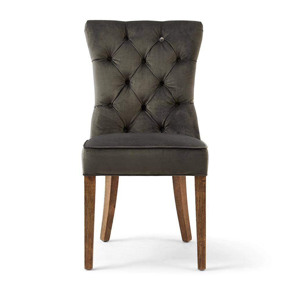 Jedálenská stolička Balmoral, Grey, Velvet